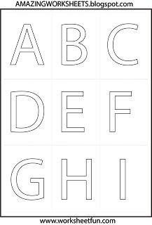 * alphabet - play doh mats