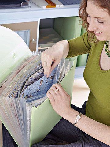 katie with paper storage