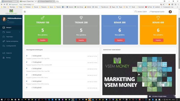 Заработок в интернете с VSEM.money !!! Вход 300 рублей --выход 140000 ру...