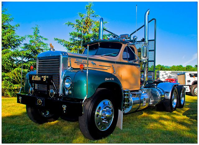 Semi Tractor Accessories : Best images about b model mack trucks on pinterest
