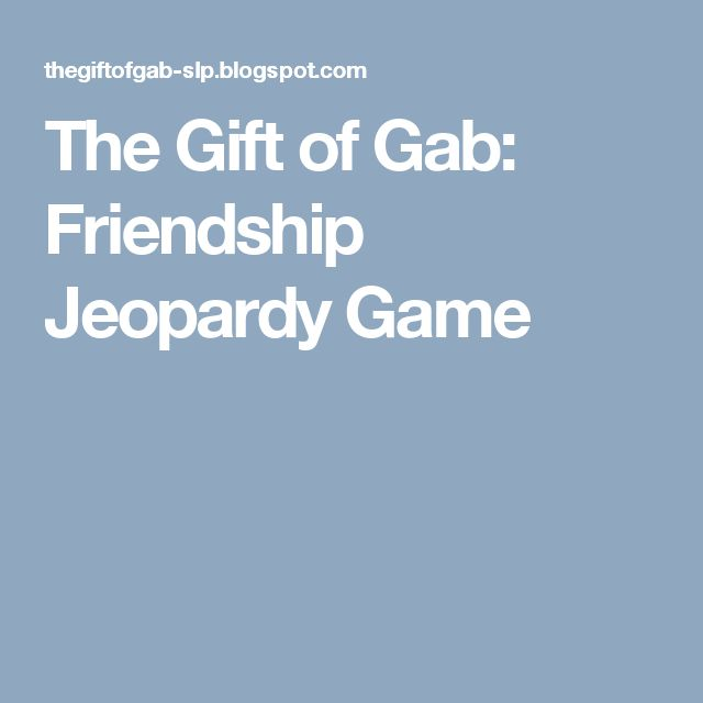 Best 25 jeopardy theme song ideas on pinterest jeopardy song the gift of gab friendship jeopardy game negle Images