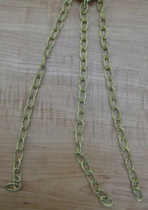 CH-06 Solid Brass Handmade Chain in Brass Finish