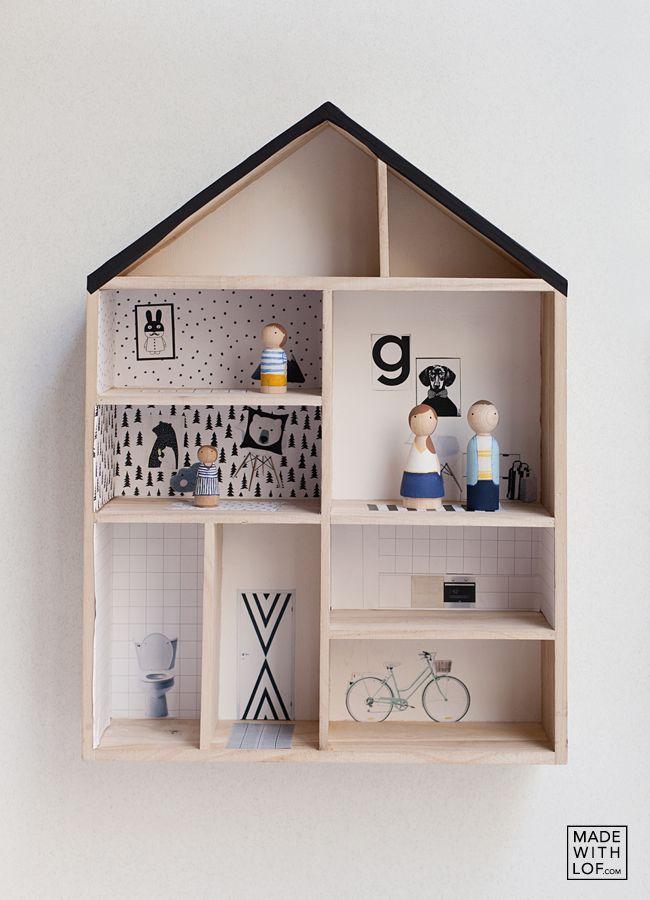 Made with lof: Tu familia en una casita de madera - Un #DIY para montar la casita de juguetes de tus niños.