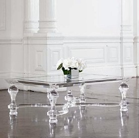 I just love acrylic furniture - especially the whole aesthetic in Tron Legacy.  Spotted this acrylic coffee table by Victoria James at the (aptly-named) www.theoddchaircompany.com.  I love it - but just dare not ask the price...