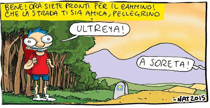 Un vignettista sul Cammino di Santiago