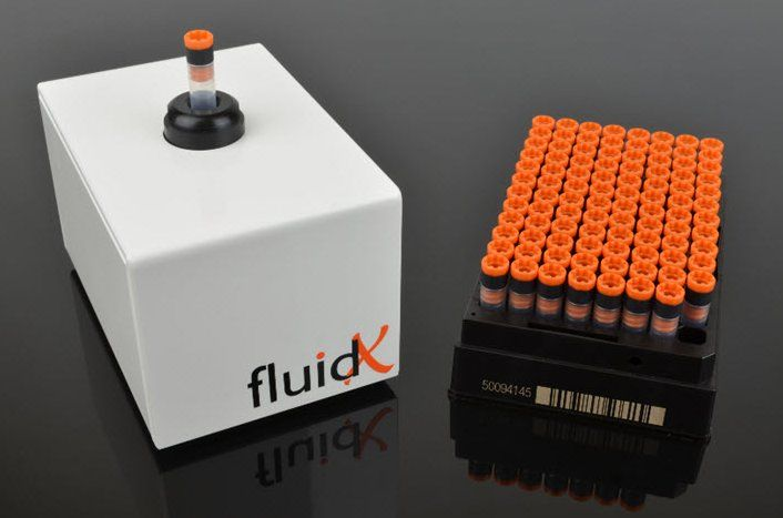 FluidX at Atrium Medical Care --------------------------------------- Sample ID readability in harsh, cold conditions. • Discover a revolutionary sample identification technology. • The CryoID™ p-Chip® tagged tubes are able to be read through heavy frost and ice. • Resistant to extreme conditions, their permanent fused memory provides a robust indelible code for unbroken chain of custody. • Get started today with our brand new CryoID™ p-Chip® Starter Pack!!! Visit http://atriumcare.com/
