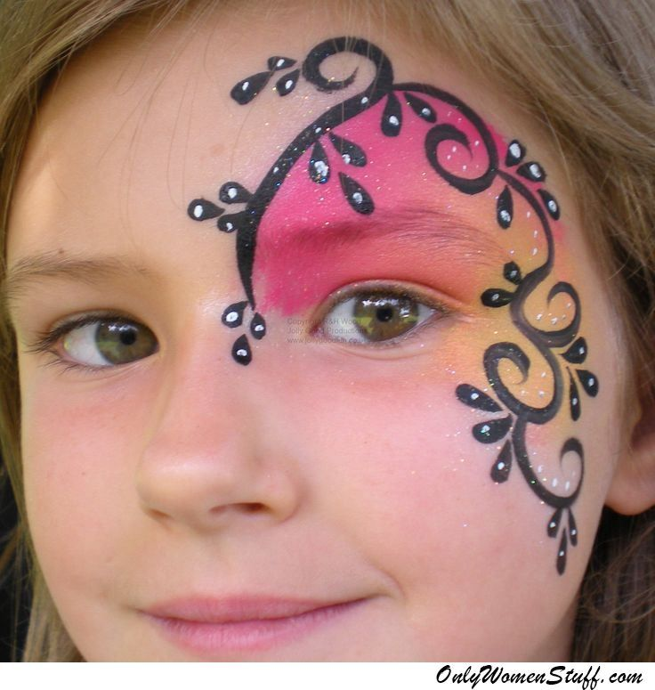 15 easy kids face painting ideas for little girls diy girl 39 s face painting face painting. Black Bedroom Furniture Sets. Home Design Ideas