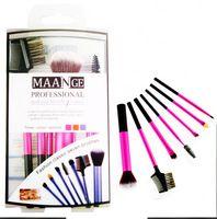 7 unids/lote pinceles de maquillaje profesional determinado famosa marca cepillo de pelo de cabra maquillaje nuevo kit de herramientas de cosméticos con tubo de aluminio