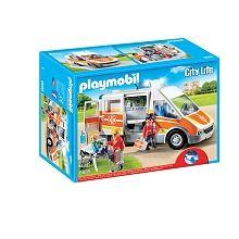 Playmobil - Nouveautés 2016 - Ambulance avec gyrophare et sirène - 6685