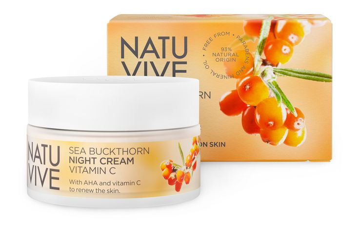NATUVIVE Sea Buckthorn Night Cream Vitamin C