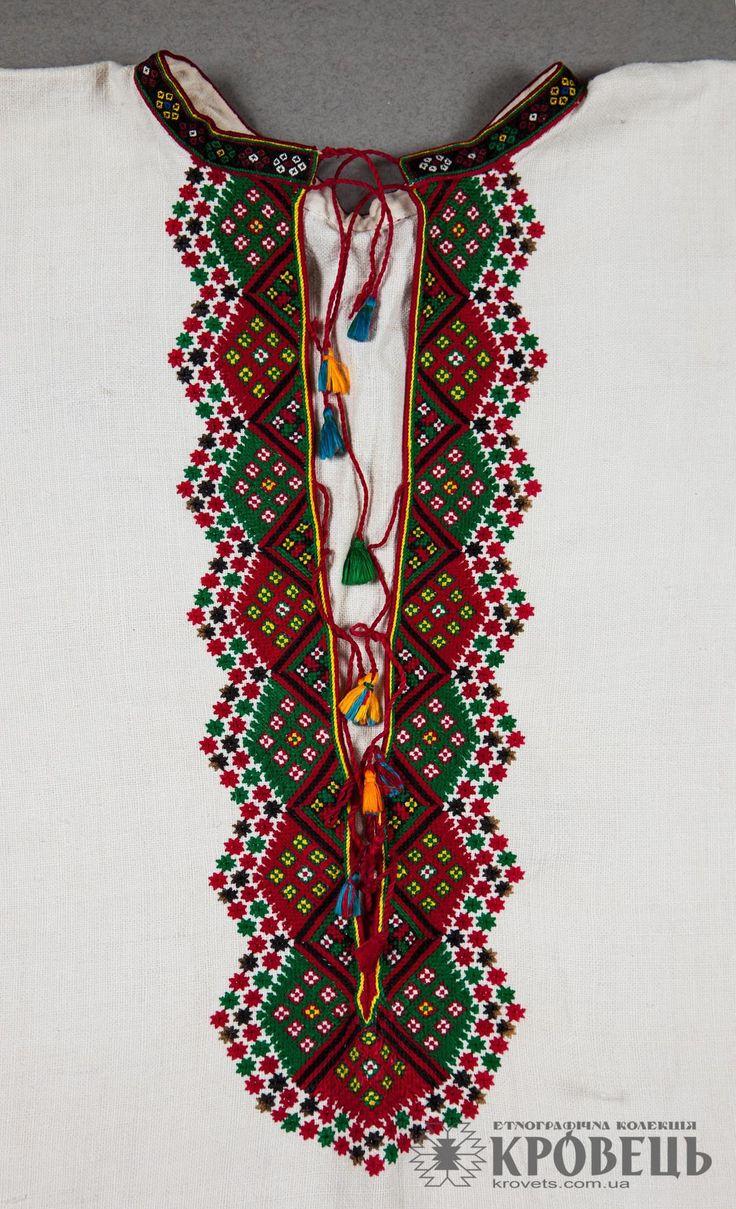Сорочка чоловіча довга | Етнографічна колекція | krovets.com.ua