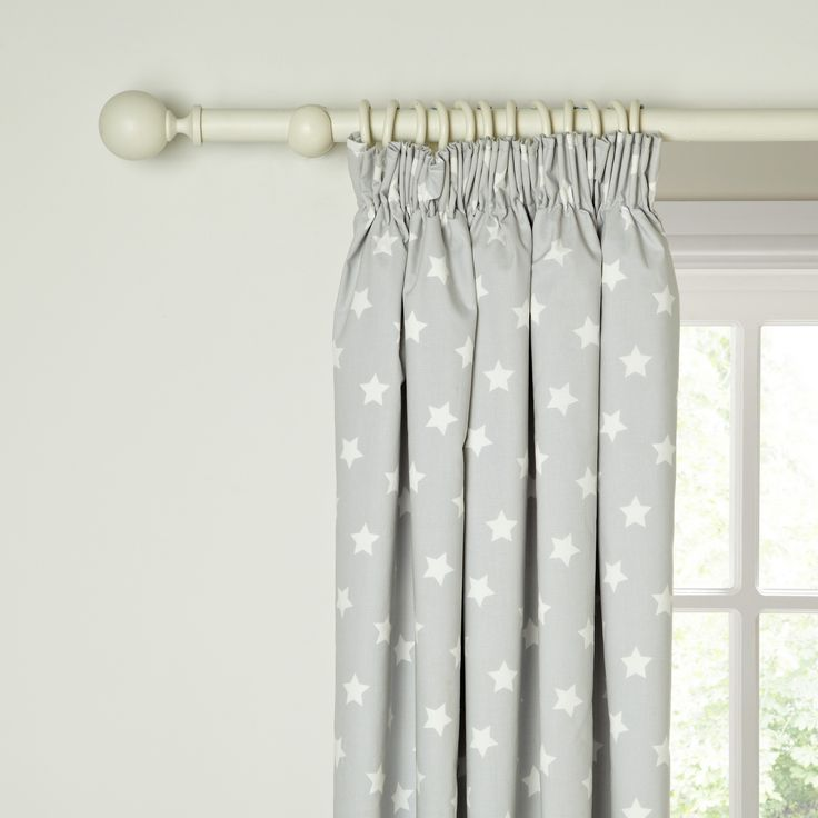 little home at John Lewis Star Pencil Pleat Blackout Lined Curtains