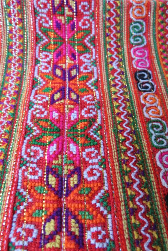Hey, I found this really awesome Etsy listing at https://www.etsy.com/listing/185168883/vintage-hmong-fabric-handmade-fabrics