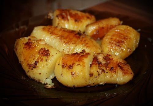 Картофель печёный по-шведски. Без майонеза, но с беконом