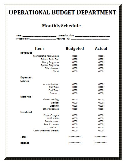 Monthly Schedule Template: We all like our days to go by in the most perfectly smooth way and one way is by maintaining a timetable. And for that we bring you the monthly schedule template, which is the time table for your coming month and also a commitment arranger