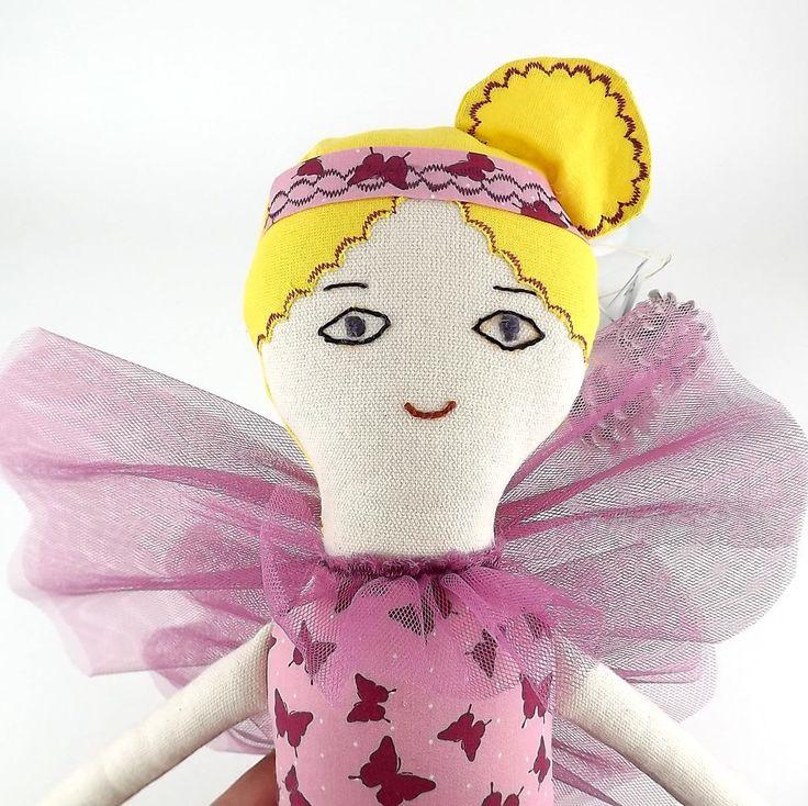 Fairy purple doll. Heirloom doll. Soft doll. Handmade doll. Cloth doll. 52 cm doll