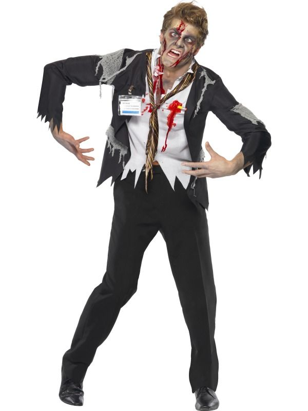 Worked To Death Office Zombie Costume £27.99 : Direct 2 U Fancy Dress Superstore. Fancy Dress, Party Themes & Accessories For The Whole Family. http://direct2ufancydress.com/worked-to-death-office-zombie-costume-p-6299.html