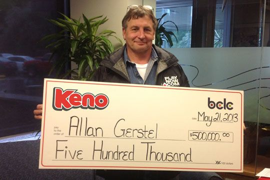 Allan Gerstel wins record Keno Jackpot on PlayNow.com