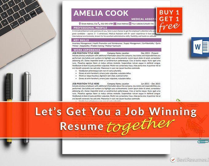 Simple Resume, Clean Resume, Resume Template Word, Classic Resume