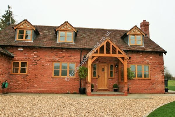 New Oak Entrance Porch, Oak Door and Windows by www.brownsjoineryltd.co.uk