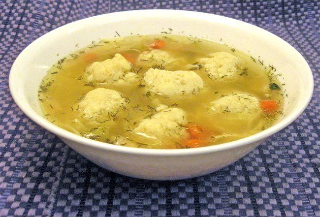 Matzo Ball Soup - Looks very similar to the matzo ball soup I generally make. I don't keep kosher so I usually get crazy with veggies and variety.