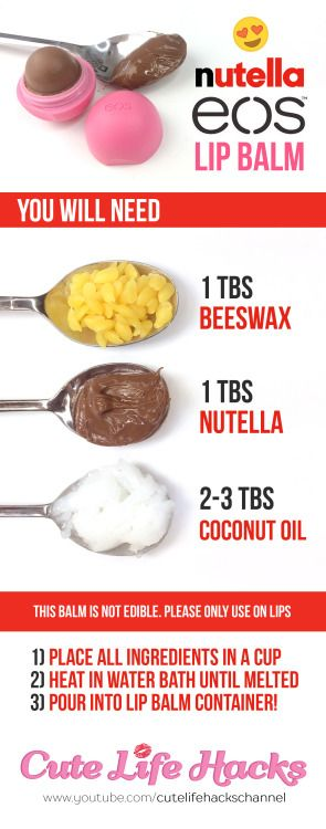 DIY 3-Ingredient Nutella Lip Balm!