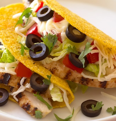 Mexican Chicken Taco Casserole With Olives, Peppers ...