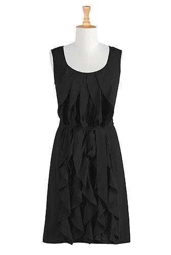 Ruffle cascade dress: Ruffle Dress, Skinny Belt, Cap Sleeve