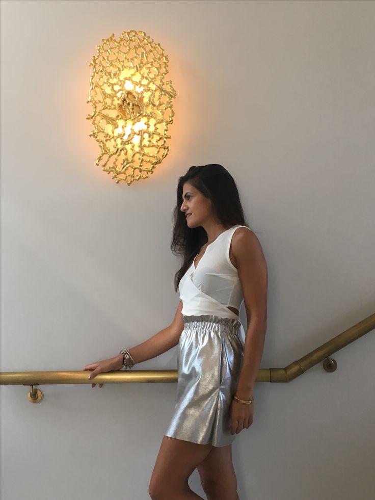 Metallic skirt ...#zara