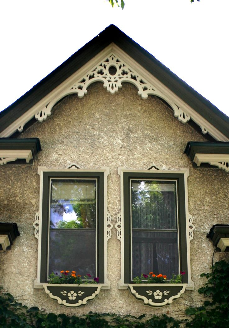 Gable On East Side Of House Gingerbread And Flower