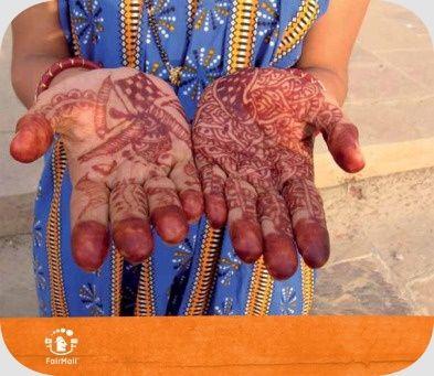 Henna Hands | @FairMail - Fair Trade Cards - S339-E | Congratulations, Friendship, Sorry, Specials, Folklore, Giving, Hand, India, Tattoo