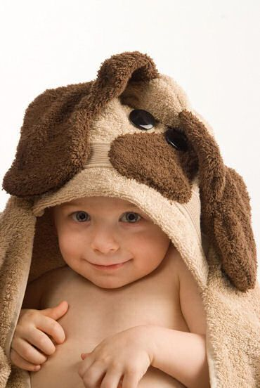 LOOK HOW BIG AND THICK THIS IS! WAYYYYY BETTER THAN THE CHEAPY ONES WLAMRT AND TARGET HAVE! Dog Hooded Bath Towel-Dog Hooded Bath Towel,childrens brown bath towel,handmade bathtime buddy,baby shower gift