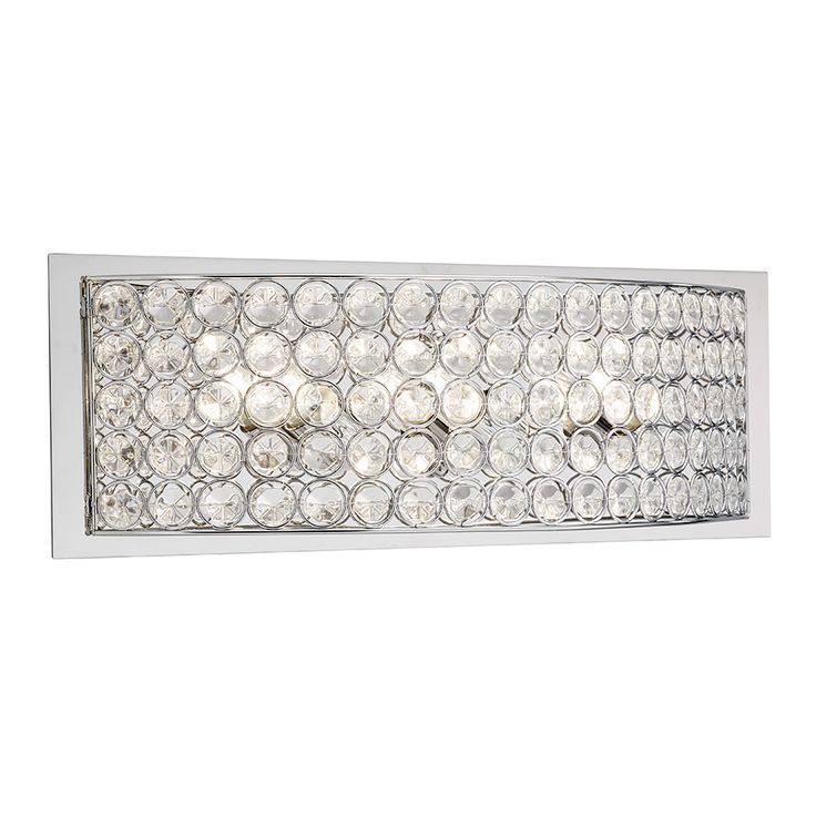 Lowes Crystal Vanity Lights : Kichler Lighting Krystal Ice 3-Light Chrome Rectangle Vanity Light 37403 Shops, Ice and ...