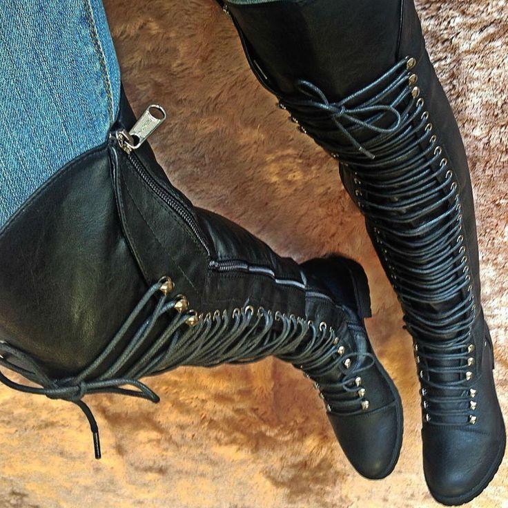 Thigh High Combat Boots Travis