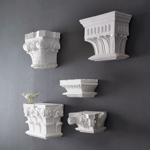 Plaster Wall-Mounting Capital - For tink! Check the dimensions b/c I didn't measure her.....