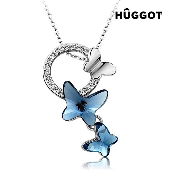 We present you Hûggot Butterfly Rhodium-Plated Pendant with Zircons (45 cm) the new collection of jewellery Hûggot!