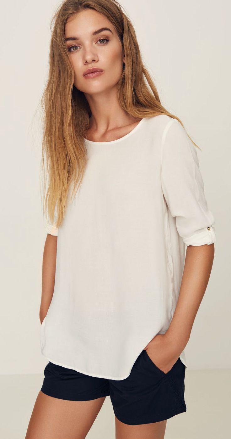 Vero Moda BOCA 3/4 Bluse - Fold Up - Snow White von Vero Moda bei Jeans-Meile bestellen ✓ Kauf auf Rechnung ✓ Große Auswahl an Damenmode.