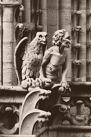 Gargoyles of Notre Dame Cathedral - doesn't the gargoyle on the right look a bit like Matthew McConaughey?