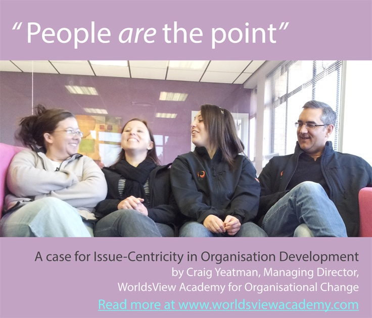 Craig Yeatman sets out a case for issue-centricity in organisation development. Beginning with a question – from where does our work arise, Craig explores how we distinguish the underlying issue from the presenting issue and work through the 'long line' of organisation development.