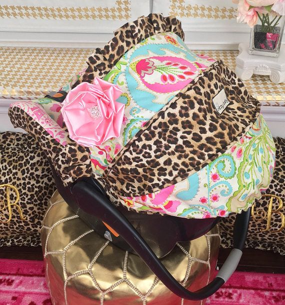 Custom Baby Car Seat Covers, 4 Pc Set Baby Car Seat Covers, Infant Car Seat Covers, Custom Baby Car Seat Covers, Leopard Baby Covers, Ritzy Custom Baby Car Seat Cover 4 Pc Set CAR SEAT CANOPY WITH VISOR (no flower) CAR SEAT BODY, AND 2 NECK STRAP COVERS Custom Infant Car Seat Covers,