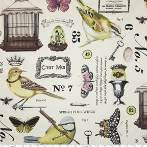 birds and crowns and french. LOVE.
