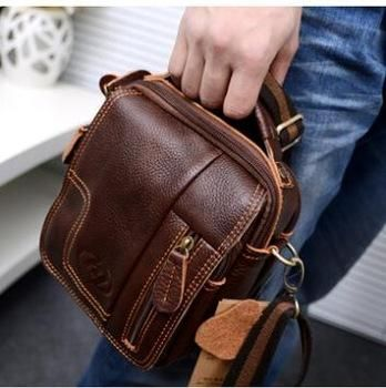 Best Real Genuine Leather Men'S Messenger #Bag Retro Shoulder Small Men Bags 2015 New Crossbody Multifunctional Waist Pack Fashion Under $40.07   Dhgate.Com