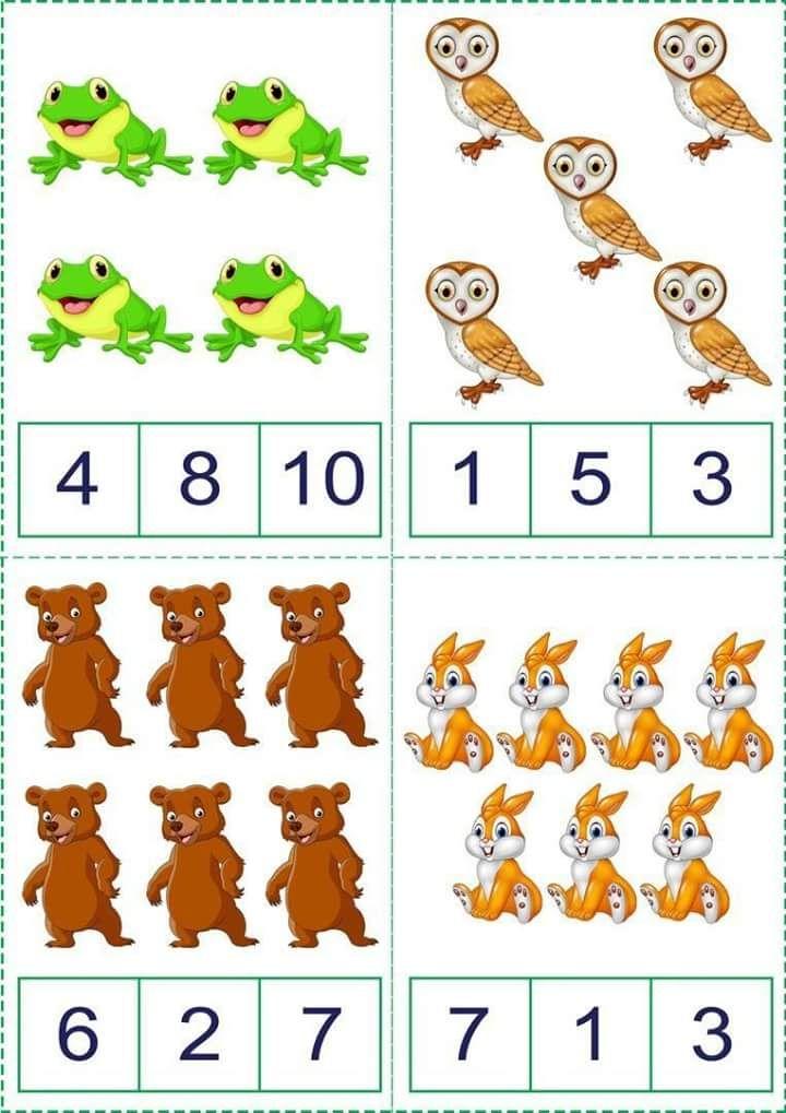 Okul öncesi matematik etkinlik sayfaları, Toplama işlemi etkinlikleri, Çıkarma işlemi etkinlikleri, Hayvanlar temalı sayı kartları, Renkli toplama çıkarma işlemi etkinlik sayfaları,