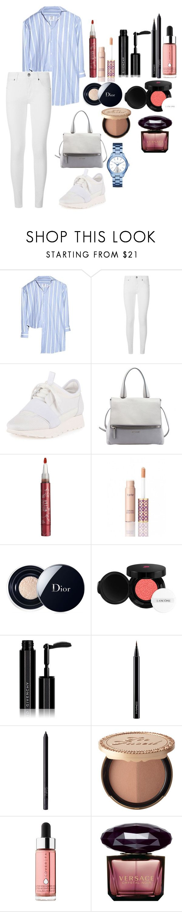 """Untitled #109"" by rahmadita14 on Polyvore featuring Vetements, Burberry, Balenciaga, Givenchy, Stila, tarte, Christian Dior, Lancôme, MAC Cosmetics and NARS Cosmetics"