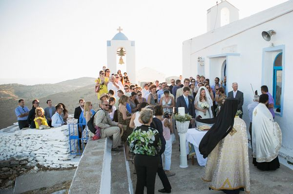 The quaint Greek island church of St. Symeon is situated on mountain and has a breathtaking  view of the endless sea. #greekchurches #islandchurches #beautifulgreece See more here http://www.love4wed.com/greek-island-wedding-kea/