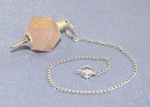 OM Rose Quartz Pendulum