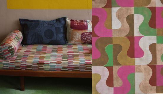 Daybed with new fabric, Art Judith Stolker