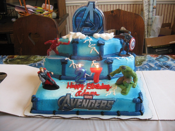 Avenger cake idea- use for layers, not the design