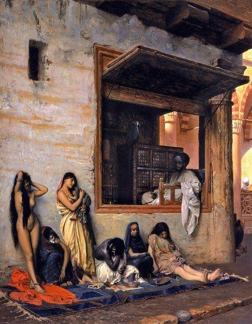 Jean-Léon Gérôme (1824-1904)     In Vendita (o Il mercato degli schiavi), 1871     Cincinnati Art Museum (USA)  Fb site ArtEmozione