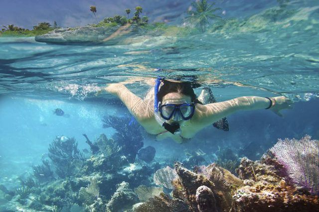 Snorkeling at Sanibel Island, Florida